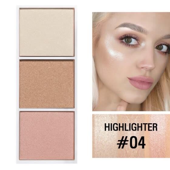 Shop 3 Color Bronzer Highlighter Glow Shadow Makeup Kit Highlighter Makeup Palette Face Contour Online From Best On Jd Com Global Site Joybuy Com