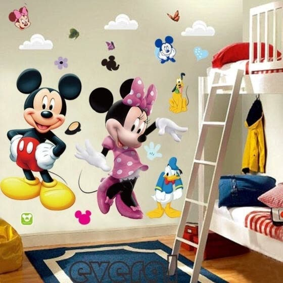 DIY Large Mickey Mouse Minnie PVC Wall Sticker Decals Kids Nursery Home Decor