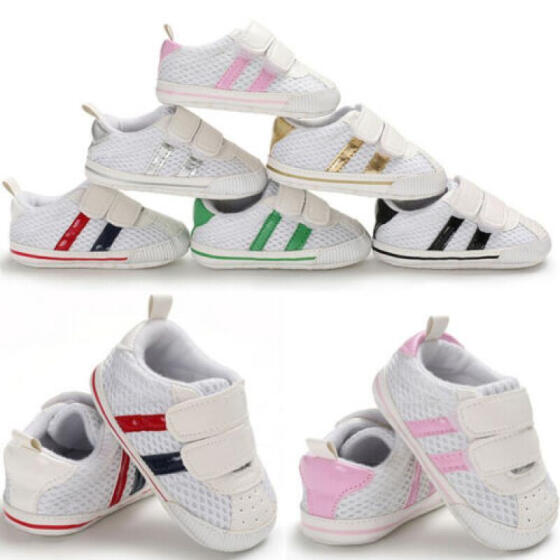 Cute Baby Kid Boys Toddler Infant Shoes Soft Sole Crib Shoes Sneaker 0-18 Months
