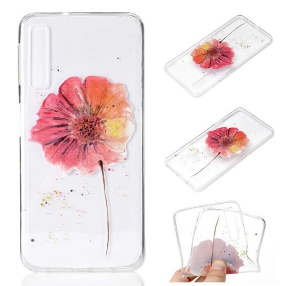Phone Case For Samsung Galaxy A7 2018 A9 2018 A6 A8 Plus A3 A5 A7 2017 Simple Ultrathin Flower Pattern Soft TPU Case Back Cover