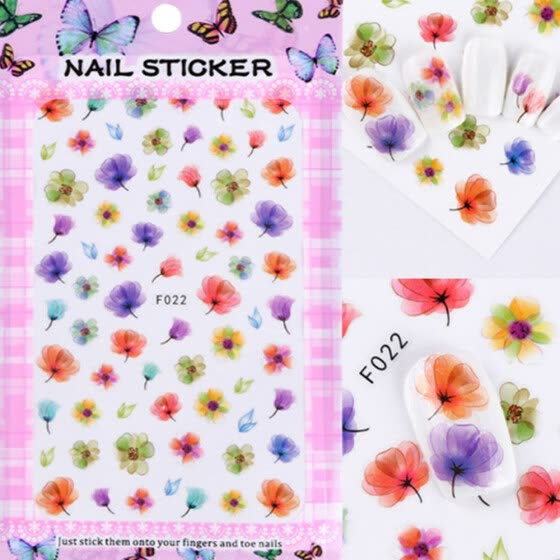 〖Follure〗3D Major Design Nail Art Foil Stickers Transfer Decal Tips Manicure DIY