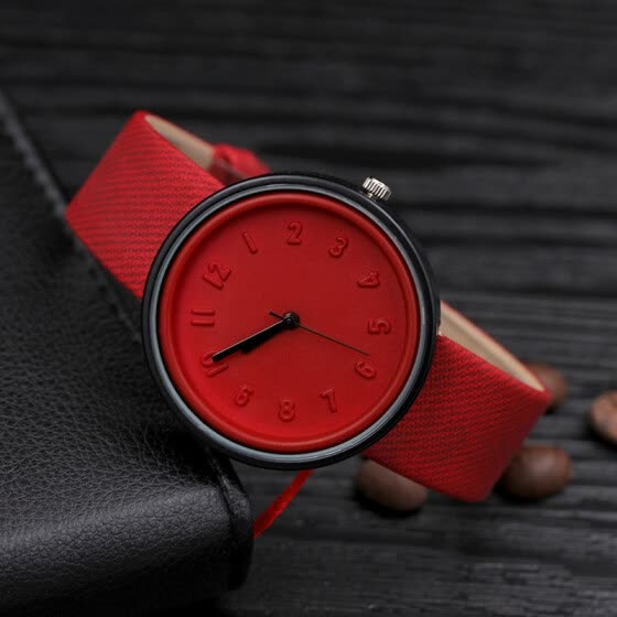 Korean fashion trend casual watch Harajuku style jelly color male and female middle school student couple watch