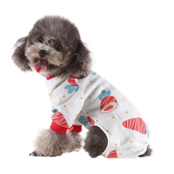 Pet Dog Vest Halloween Costume Cartoon Print Dog Shirt Summer Small Dog Clothes