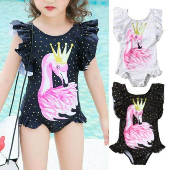 Toddler Infant Baby Girls Flamingo Kid Swimwear Swimsuit Bikini Set Bathing Suit
