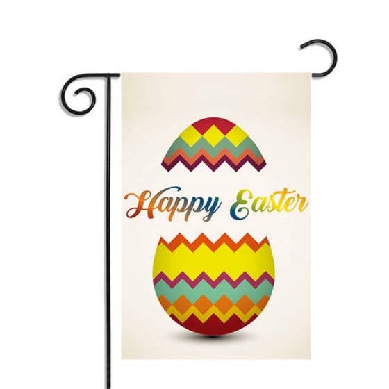 Easter Flag Decoration Outdoor Holiday Garden Flags Double-sided Printing Waterproof Sunscreen Garden Flag for Easter