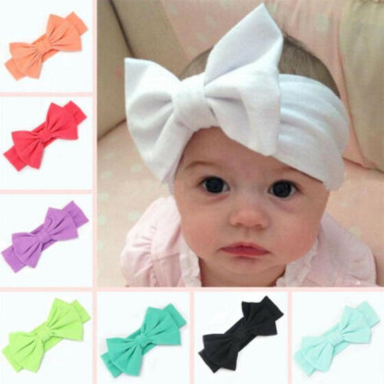 Wrap Girls Hair Accessories Newborn Baby Headband Stretch Turban Bow Hairband