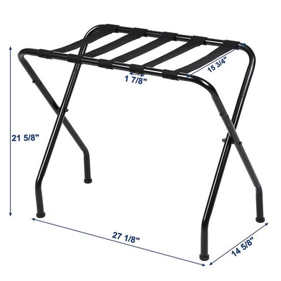 Shop Luggage Rack Stand Suitcase Rack Folding Metal Black ...