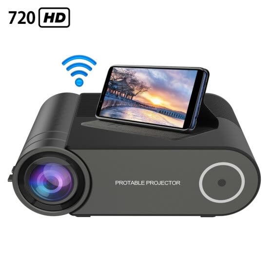 "2400 lumens Mini Projector Portable Video Projector, Full HD 1080P 200"" Display Supported; Outdoor Movie Projector"