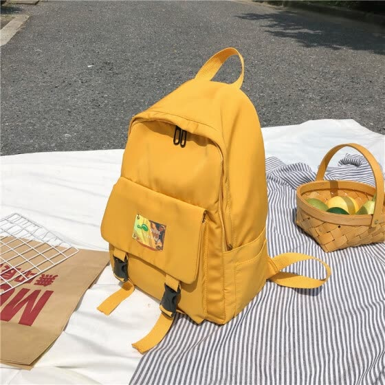The backpack of the female schoolbag Korean version of the Japanese department girl with two shoulders Baochao brand female ins Fe