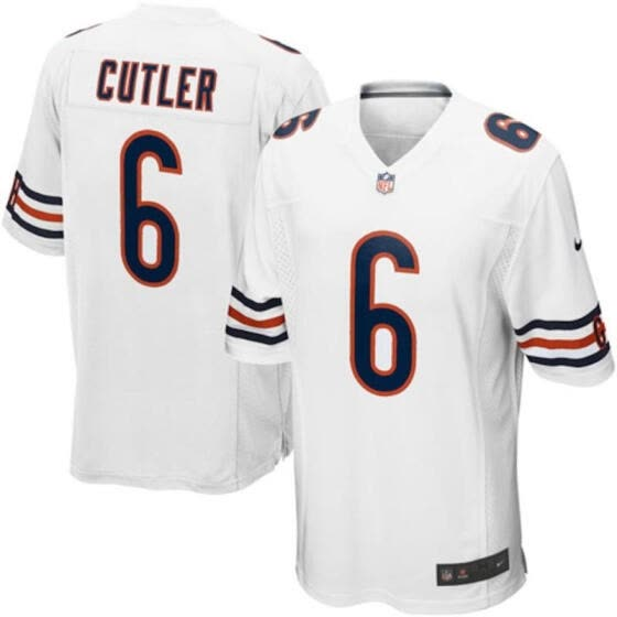 sports shoes b99c4 f14e6 Shop Mens Football Jersey Chicago Bears Jay Cutler White ...
