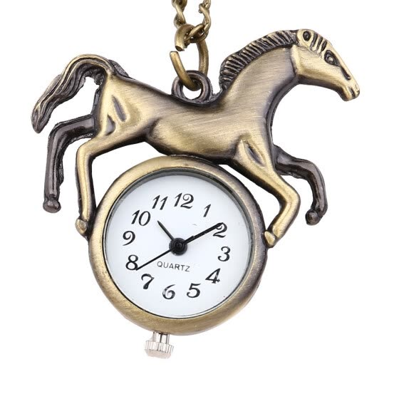 Retro Personality Round Dial Quartz Pocket Watch Animal Pocket Watch