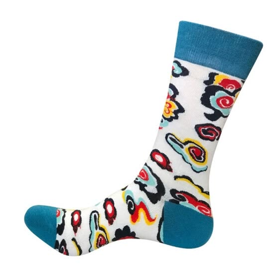 Top Sale Men Socks Super Cotton Personality Trend Socks Large Size Middle High Tube Men Socks
