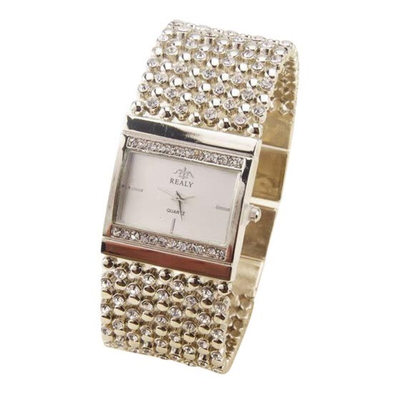 Women's Stainless Steel Quartz Watch Rhinestone Crystal Analog Wrist Watch SL