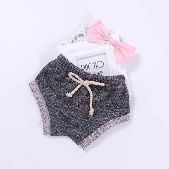 Baby Girls Boys PP Breath Pants Casual Summer Soft Cotton Bow Candy Color Drawstring Cute Shorts 0-24M Cute Newborn Baby Clothes