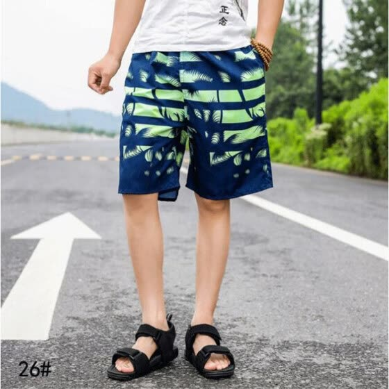Gobestart Fashion Men's Strapped Big Size Beach Fit Sport Quick Dry Casual Shorts Pants
