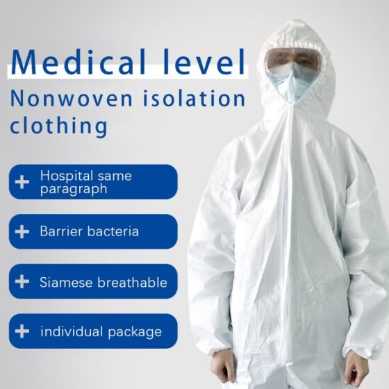 Disposable Isolation Gowns Non Woven Dustproof Onesie Protective Clothing Cloth Protective Supplies