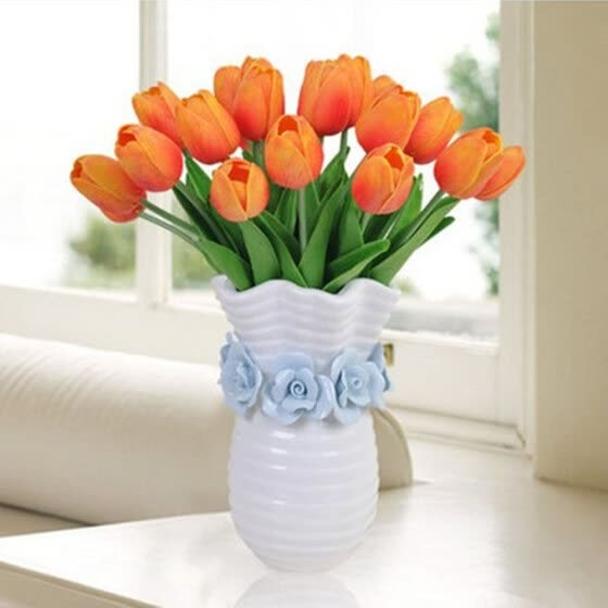 2pcs PU Artificial Tulips Flowers for Party Home Decoration