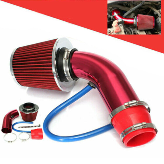Universal 3/'/' 76mm Car Cold Air Intake Filter Aluminum Induction Kit Pipe Hose