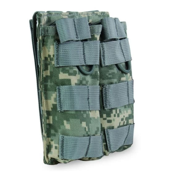 Tactical MOLLE Double Open Top Mag Pouch M4/M16 Magazine Pouch Airsoft Military Paintball Gear Shotgun Vest Accessory Pack