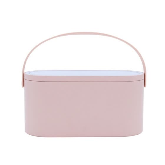 2 In 1 Portable Makeup Storage Box Case Creative Cosmetics Organizer With LED Lights Makeup Mirror Travel Makeup Tools