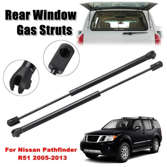1 Pair Rear Tailgate Window Glass Gas Struts for Nissan Pathfinder R51 2005-2013