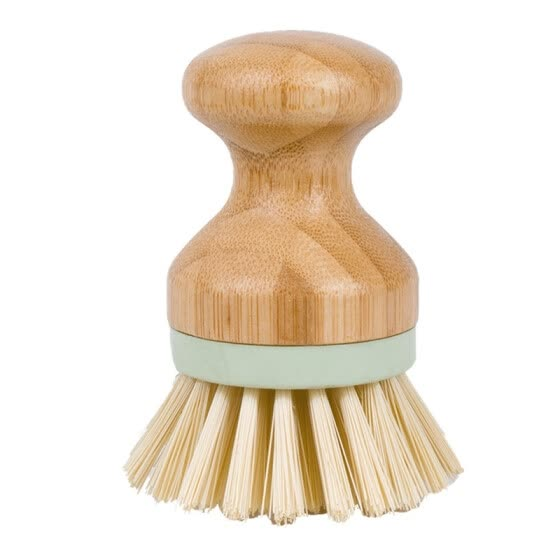 Solid Wood Kitchen Brush Portable Round Head Kitchen Brush For Pot Household Stove Brush Home Cleaning Tool