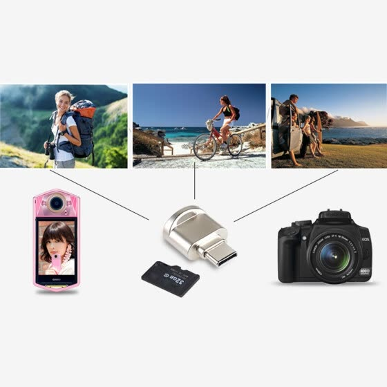 Mini Type C Micro SD TF Memory Card Reader OTG Adapter USB 3.1 Portable
