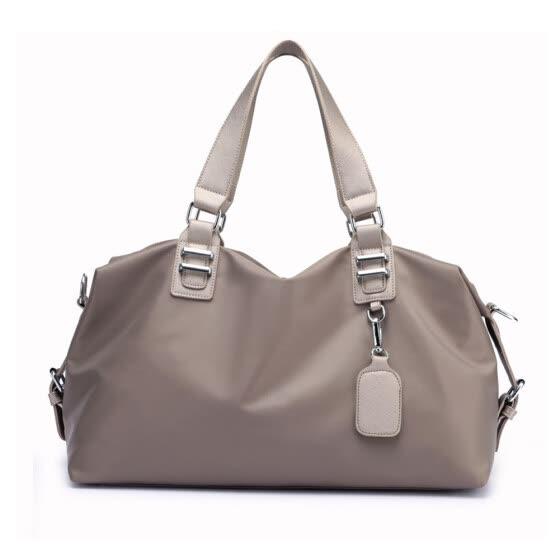 Women Handbag Nylon Waterproof Solid Large Capacity Multifunction Casual Outdoor  Sports Tote Weekend Travelling Bag c9c099dce4