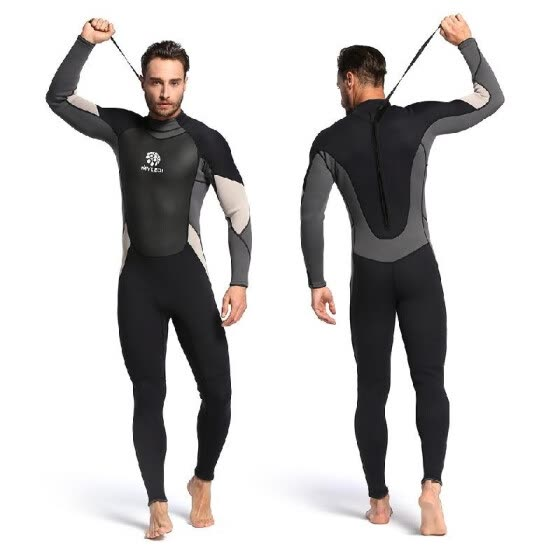 9a074ace12 Men's 3mm Back Zip Full Body Wetsuit Swimming Surfing Diving Snorkeling Suit