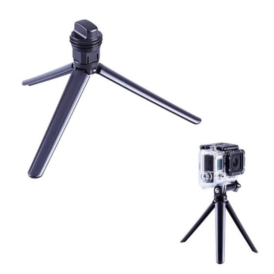 For GoPro Tri-Fold Stand Sports Camera Stand Accessories Kits With Action Camera Lanyard  Selfie Stick