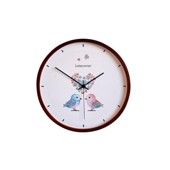 LATECOMER New Clock Watch Wall Clocks Silent Wooden Home Decoration Living Room