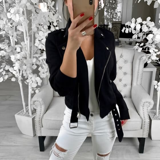 Women Fashion Long Sleeve Blazer Open Front Short Cardigan Suit Jacket Coat
