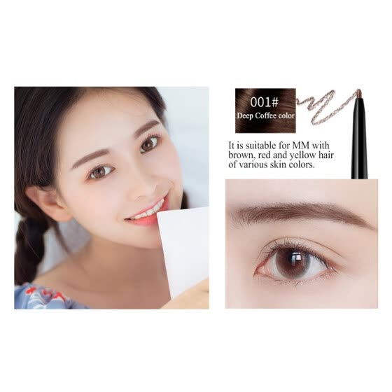 Double End Eyebrow Pencil Waterproof Natural Long Lasting Ultra Fine 1.5mm Eye Brow Tint Cosmetics Brown Color Brows Make Up