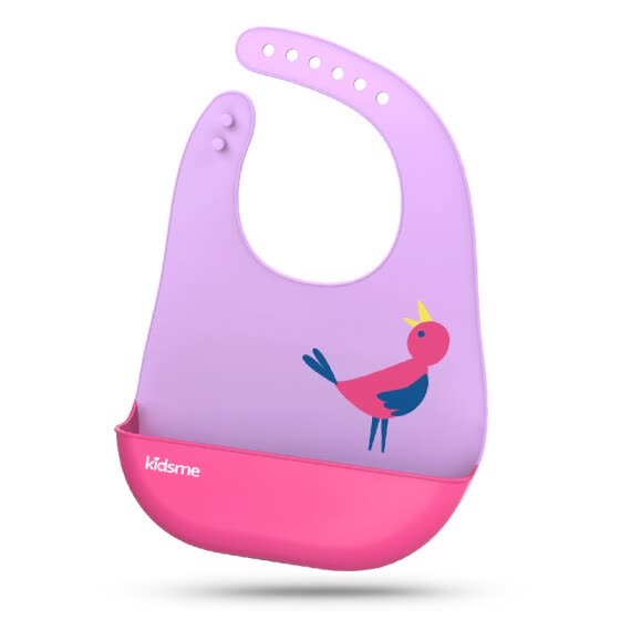 shop kiss my kidsme baby full silicone rice pocket waterproof three dimensional bib bib pink online from best for babies on jd com global site joybuy com joybuy