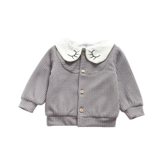 Lovely Jacket For Girl Cartoon Baby Girls Jacket Autumn Long Sleeve Fashionable Baby Coat Cotton Kids Clothes Outfit Overcoat