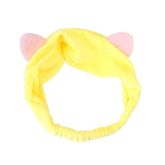 Cat Ear Headband Women Girl Elastic Hair Band Headdress Face Washing Headwear