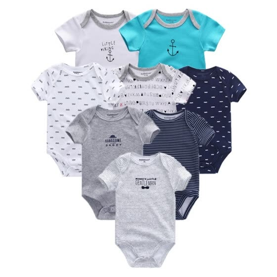 Baby Boys Clothes Newborn 0-12M Babywear Cotton For Babies Unicorn Baby Girls Clothes Clothing Sets Rompers Baby Bodysuits 8PCS