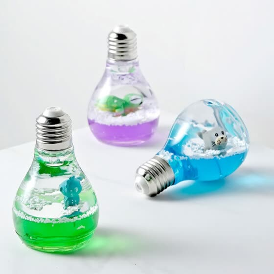 YW_Creative Mediterranean Ocean Light Bulb Flash Decoration Creative Micro Landscape Home Student Birthday Gift Decoration