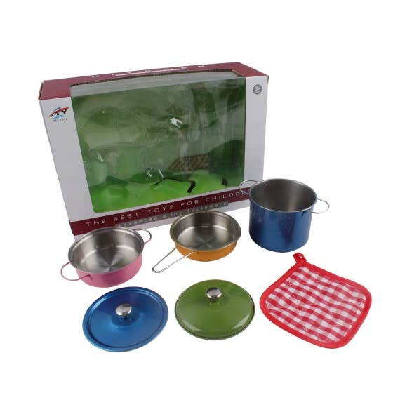 Shop Inkach Colorful Kids Kitchen Playsets Stainless Steel Pots And Pans Set For Kids Toys Online From Best Cosplay On Jd Com Global Site Joybuy Com