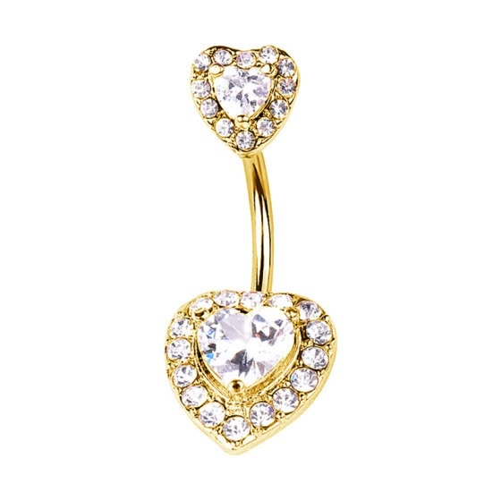 1PC Steel Belly Button Rings Crystal Piercing Navel Heart Style Navel Piercing Earring Belly Piercing Sexy Body Jewelry Ombligo