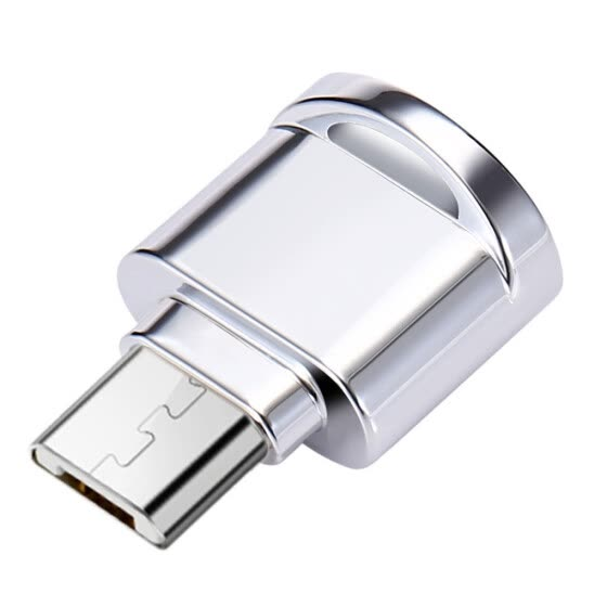 Zinc Alloy Mini TF Card Reader Laptop Phone OTG Adapter Portable Micro USB Plug Memory Card Reader