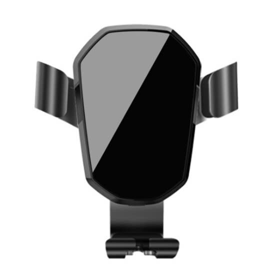 Mirror Car Gravity Phone Bracket Air Vent 180°Rotation Car Phone Holder Magnetic Mobile Navigation Mobile Phone Holder Black