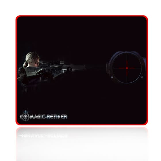 Magician MAGIC-REFINER Gaming Mouse Pad Thicken Medium Computer Table Mat Precision Wrap Bottom Non-slip Office Game Suitable for 1802 Black