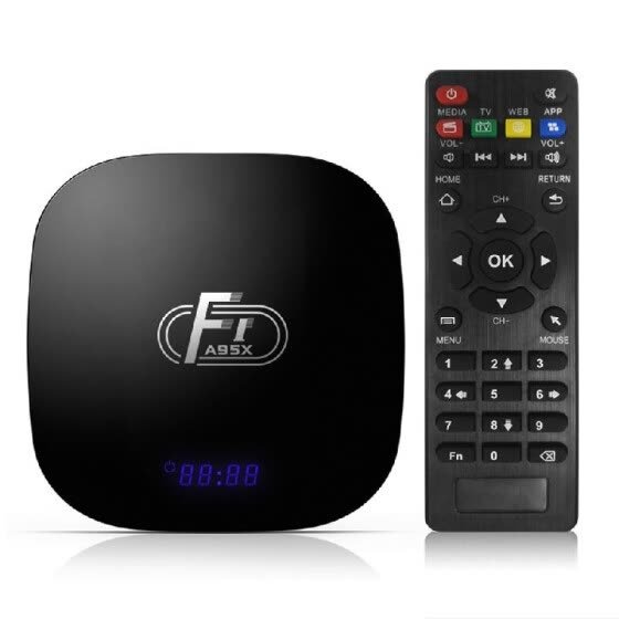 A95X F1 Android 8.1 TV Box Amlogic S905W Smart TV Set Top Box Remote Control Quad Core UHD 4K VP9 H.265 1GB / 8GB 2.4G WiFi 100M L
