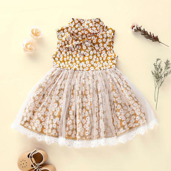 Toddler Kids Baby Girls Princess Dress Party Pageant Dresses Sleeveless Sundress