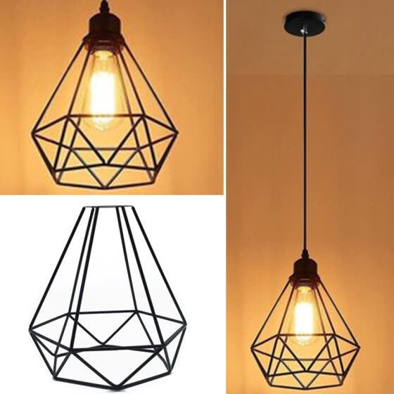 Shop W Retro Vintage Pendant Light Bulb Wire Birdcage Shape Lampshade Ceiling Lighting Fixtures Home Decoration Online From Best Power Amplifiers On Jd Com Global Site Joybuy Com