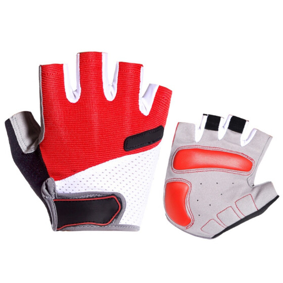 Anti Sweat Gloves Half Finger Breathable Anti-shock Anti-slip Sports Gloves New