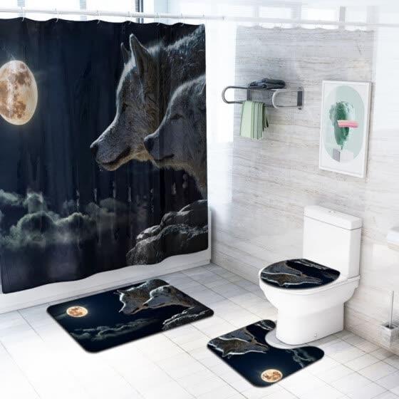 Bathroom Rugs Set Anti Skid Pads