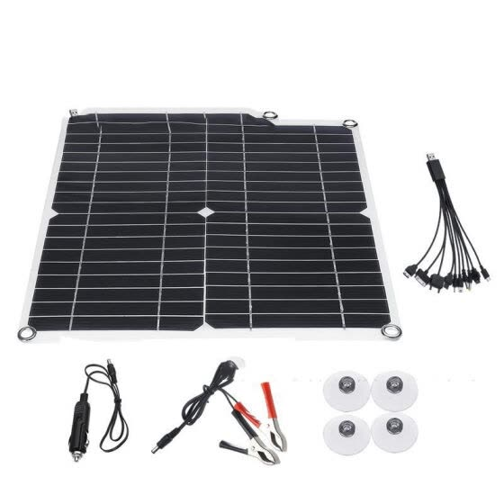 W_Suitable For Cell Phone Charge35W/5V Solar Panel 35W Solar  Phone Charger with 8 kinds of ports wire Mini Solar System DIY
