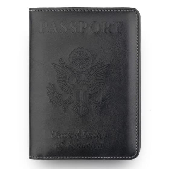 Vintage PU Leather Passport Anti-Magnetic Storage Bag Passport Cover Card Wallet Storage Bag